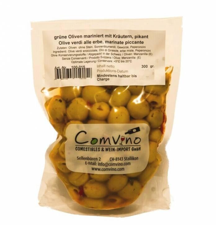 Oliven ohne Kern, pikant 300g