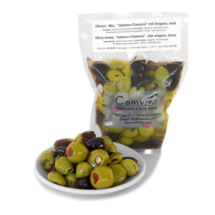 "Oliven ohne Kern, Italo Mix ""Classico"", mild 300g"
